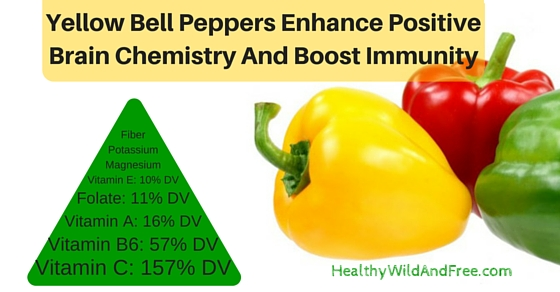 Yellow Bell Peppers Enhance Positive Brain Chemistry And Boost Immunity
