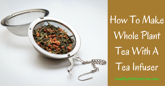 How To Make Whole Plant Tea With A Tea Infuser (and save a lot of money doing so!)