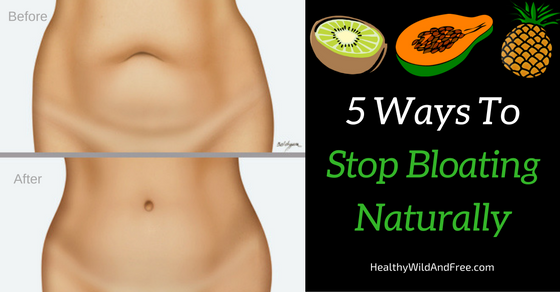 5 Ways To Stop Bloating Naturally