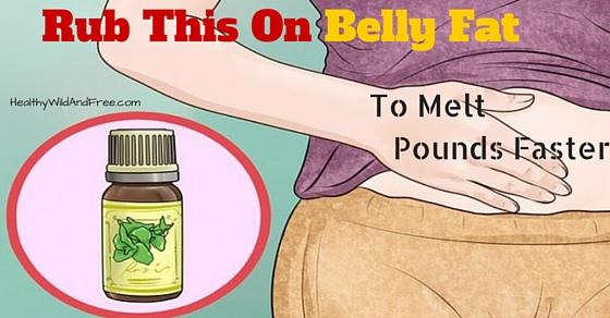 Buddha Belly? Muffin Top? Rub This On Belly Fat To Melt Pounds Faster