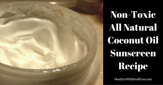 Non-Toxic All Natural Coconut Oil Sunscreen Recipe
